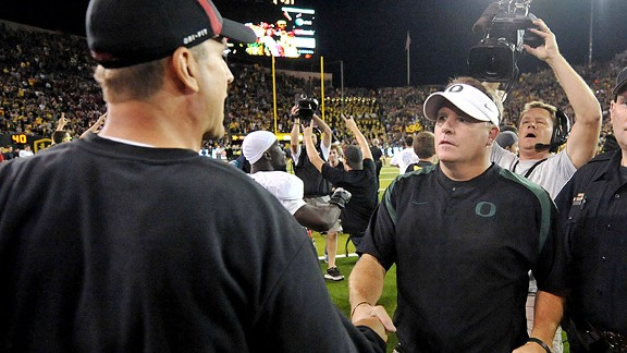 Jim Harbaugh and Chip Kelly