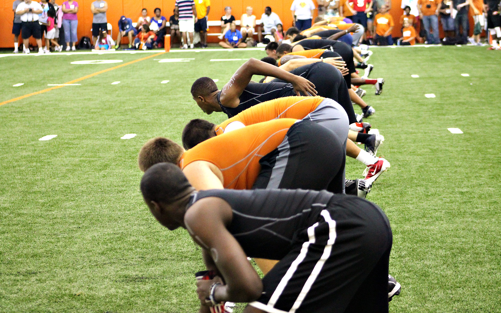 Texas camp warmup
