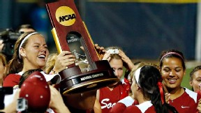 Ricketts, a two-time player of the year, helped Oklahoma win the Women's College World Series in June.