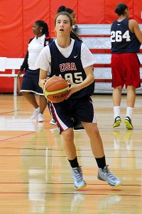Sabrina Ionescu has impressed coaches with her versatility and enthusiasm.