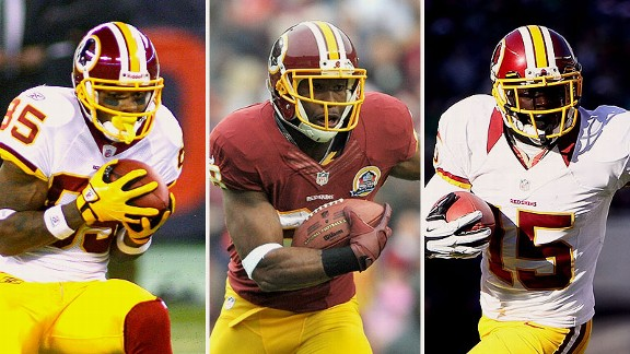 Leonard Hankerson, Pierre Garcon, and Josh Morgan