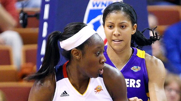 Tina Charles and Candace Parker