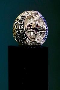 Champion Ravens receive Super Bowl rings