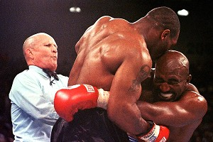 Mills Lane. Mike Tyson and Evander Holyfield