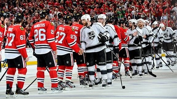 The Chicago Blackhawks and the Los Angeles Kings