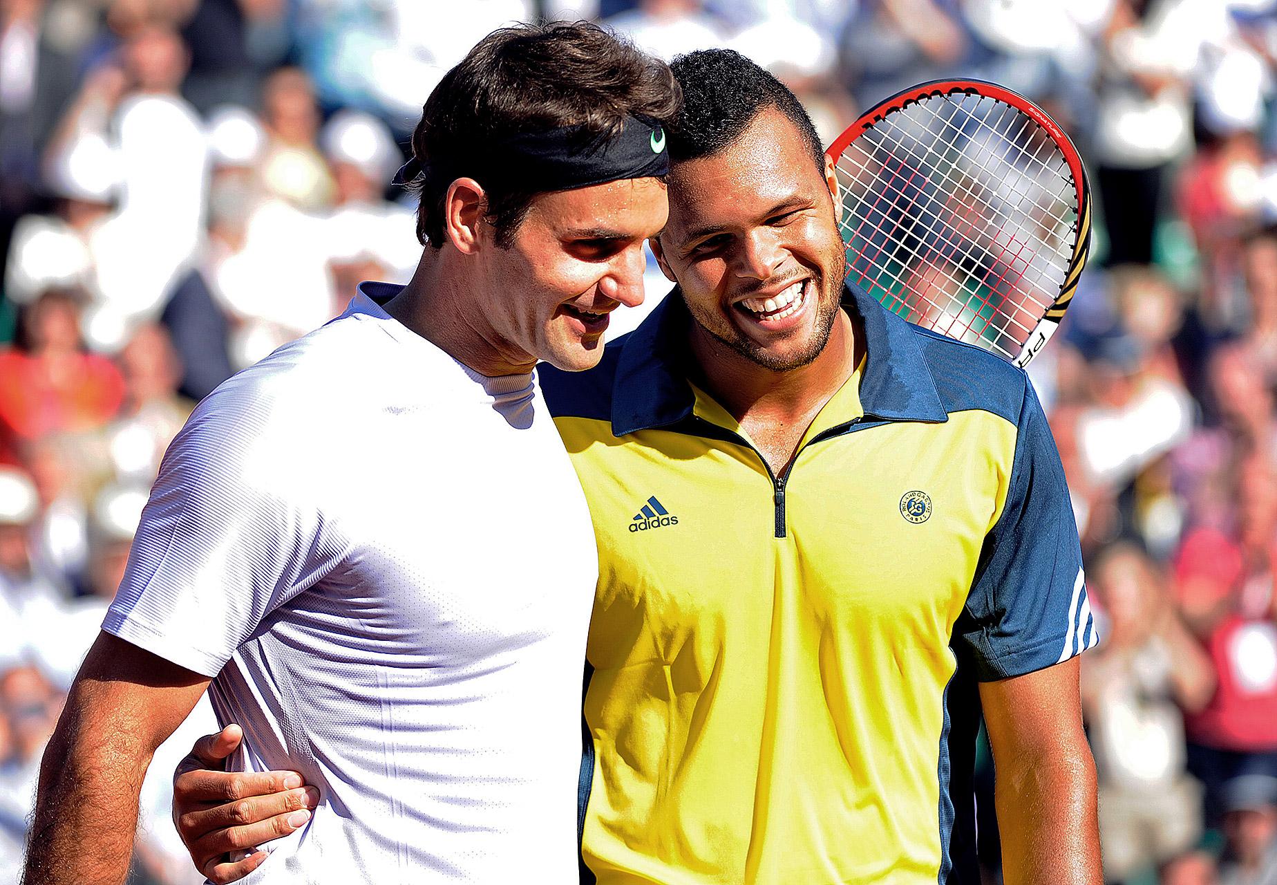 Jo-Wilfried Tsonga & Roger Federer
