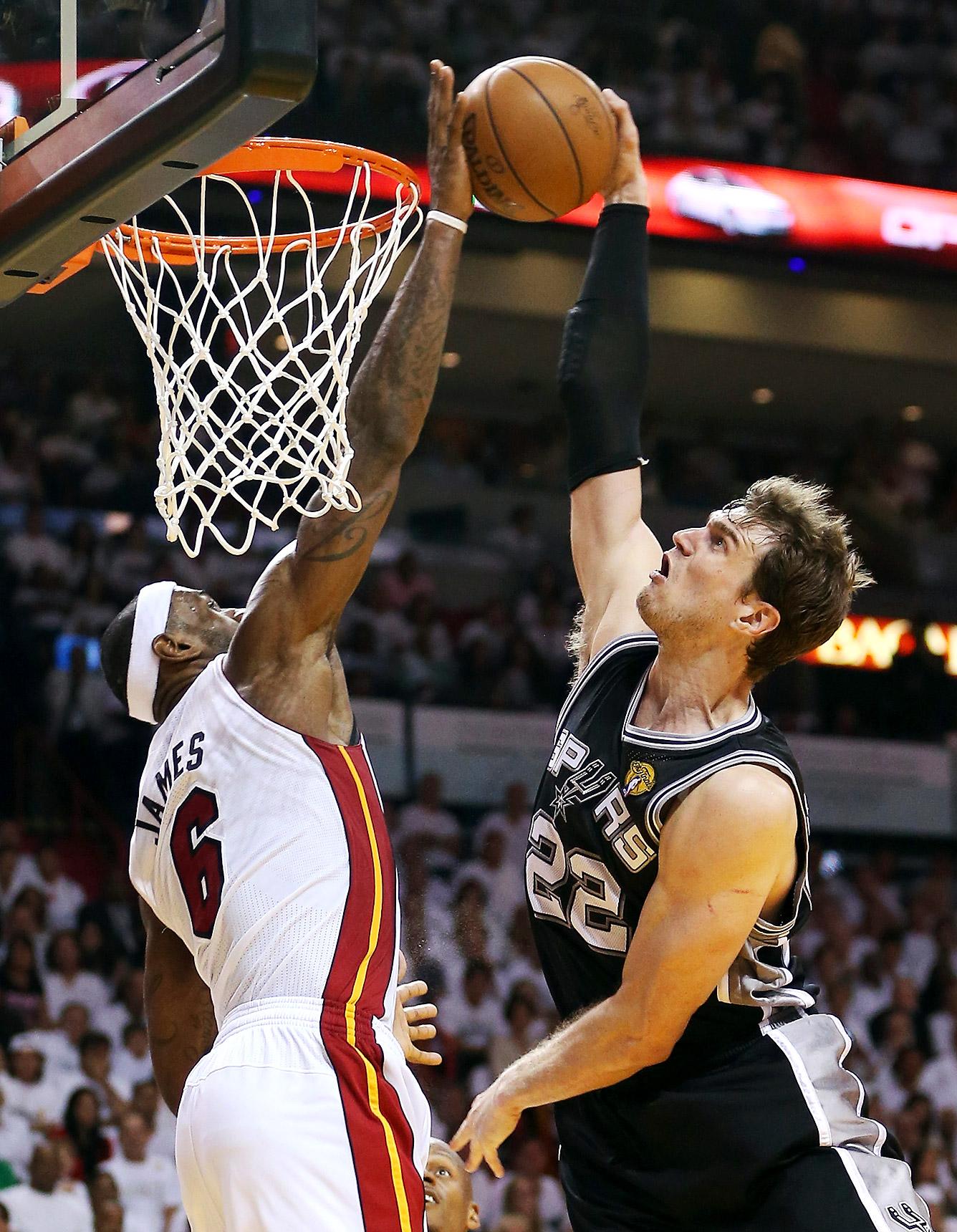 Doing It All - LeBron's Block on Tiago Splitter - ESPN