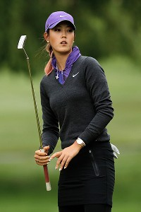 A tie-for-ninth finish moved Michelle Wie up a notch, from 13th to 12th, in Solheim points.