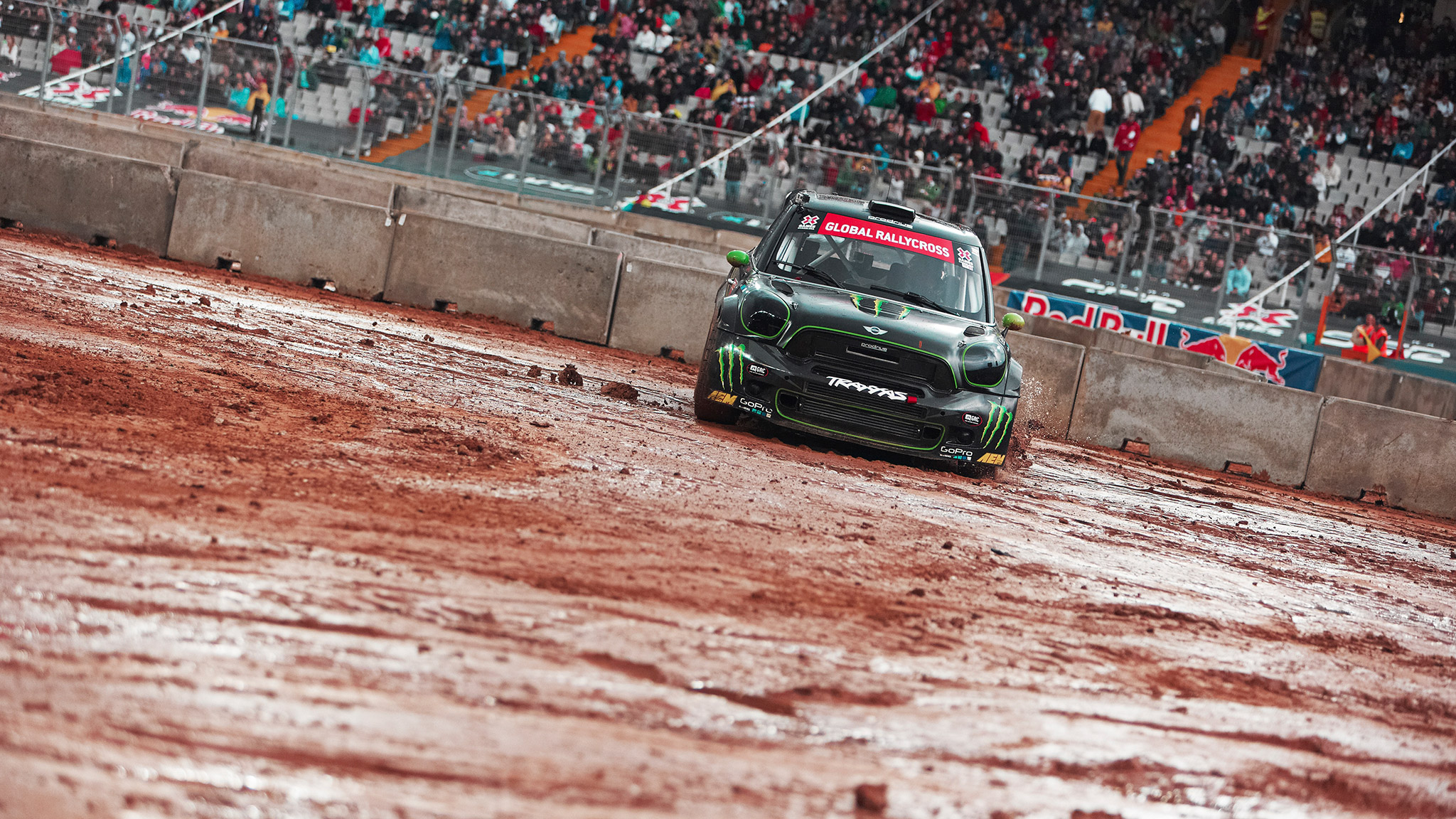 Days of rain saturated the RallyCross course at X Games Barcelona, causing the event to be cancelled. In Munich, X Games will host an additional RallyCross race.