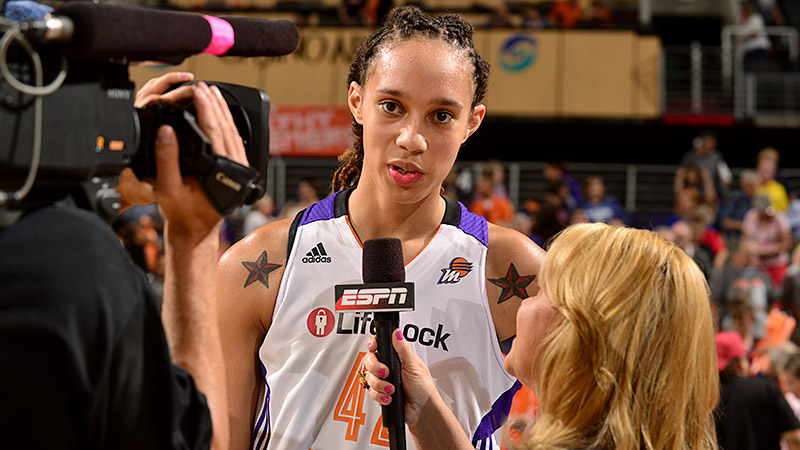 Brittney Griner is the first openly gay athlete to sign with Nike.