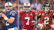 Andrew Luck, Colin Kaepernick and Matt Ryan