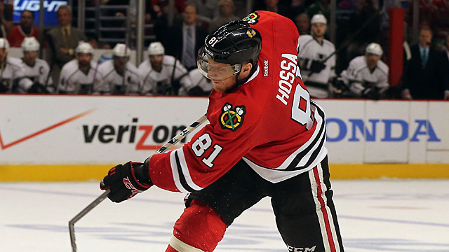 The Chicago Blackhawks' Marian Hossa