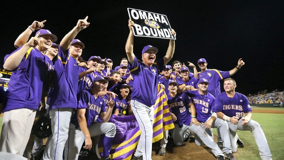 LSU beat Oklahoma in the super regionals to advance to the College World Series for the first time since 2009.