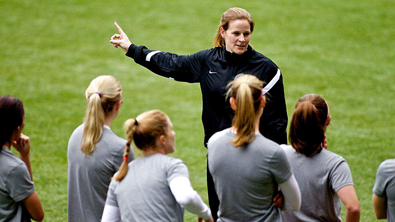 Cindy Parlow Cone had playing experience at all levels, but never served as a head coach before signing on with the Portland Thorns.