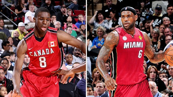 Andrew Wiggins and LeBron James