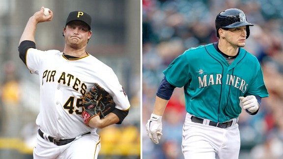 Gerrit Cole and Mike Zunino