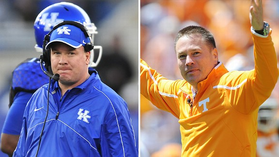 Mark Stoops and Butch Jones