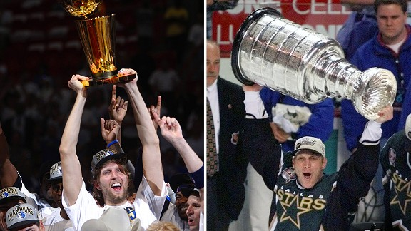 Dirk Nowitzki and Brett Hull