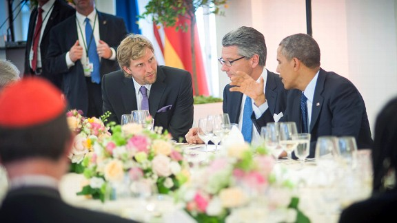 Dirk Nowitzki,  President Barack Obama, Ulrich Grillo