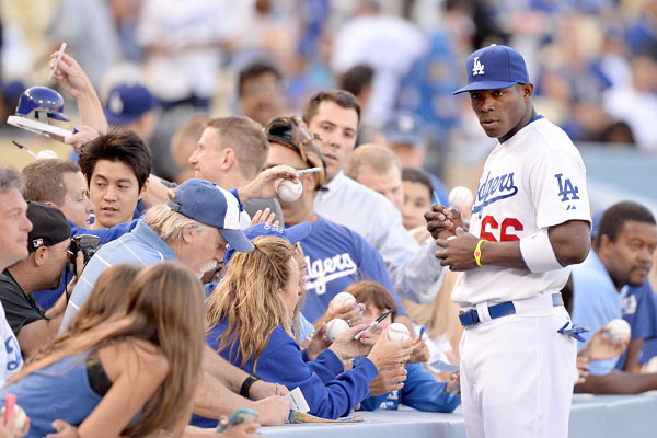 Yasiel Puig is adored by fans