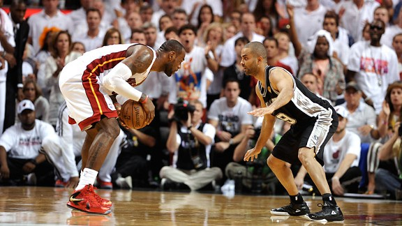 LeBron James and Tony Parker