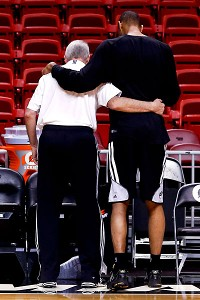 Gregg Popovich and Tim Duncan