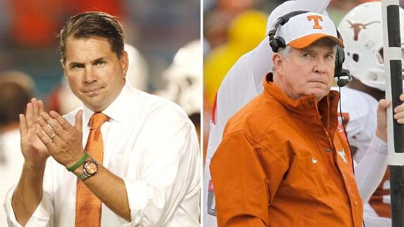 Al Golden and Mack Brown