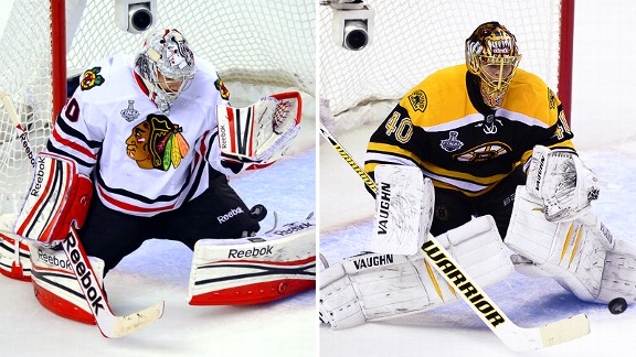Corey Crawford and Tuukka Rask