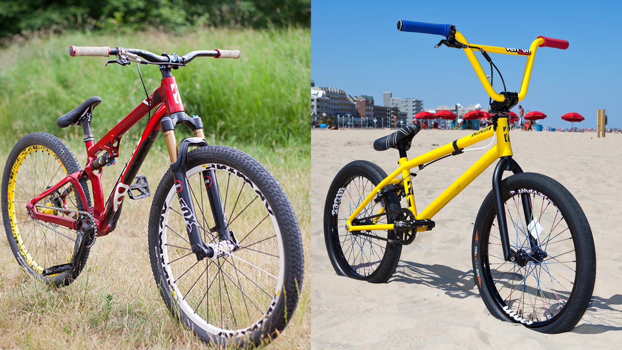 Bike Check Slopestyle Versus Bmx Not So Distant Cousins