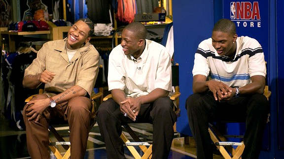 Carmelo Anthony, Dwyane Wade and Chris Bosh