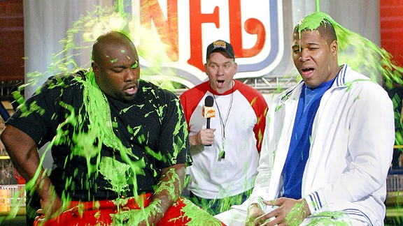 Warren Sapp and Michael Strahan