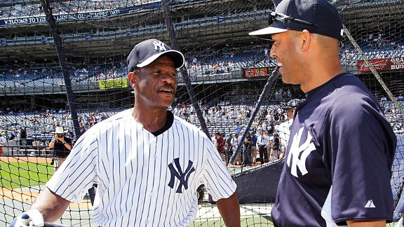 Rickey Henderson and Mariano Rivera