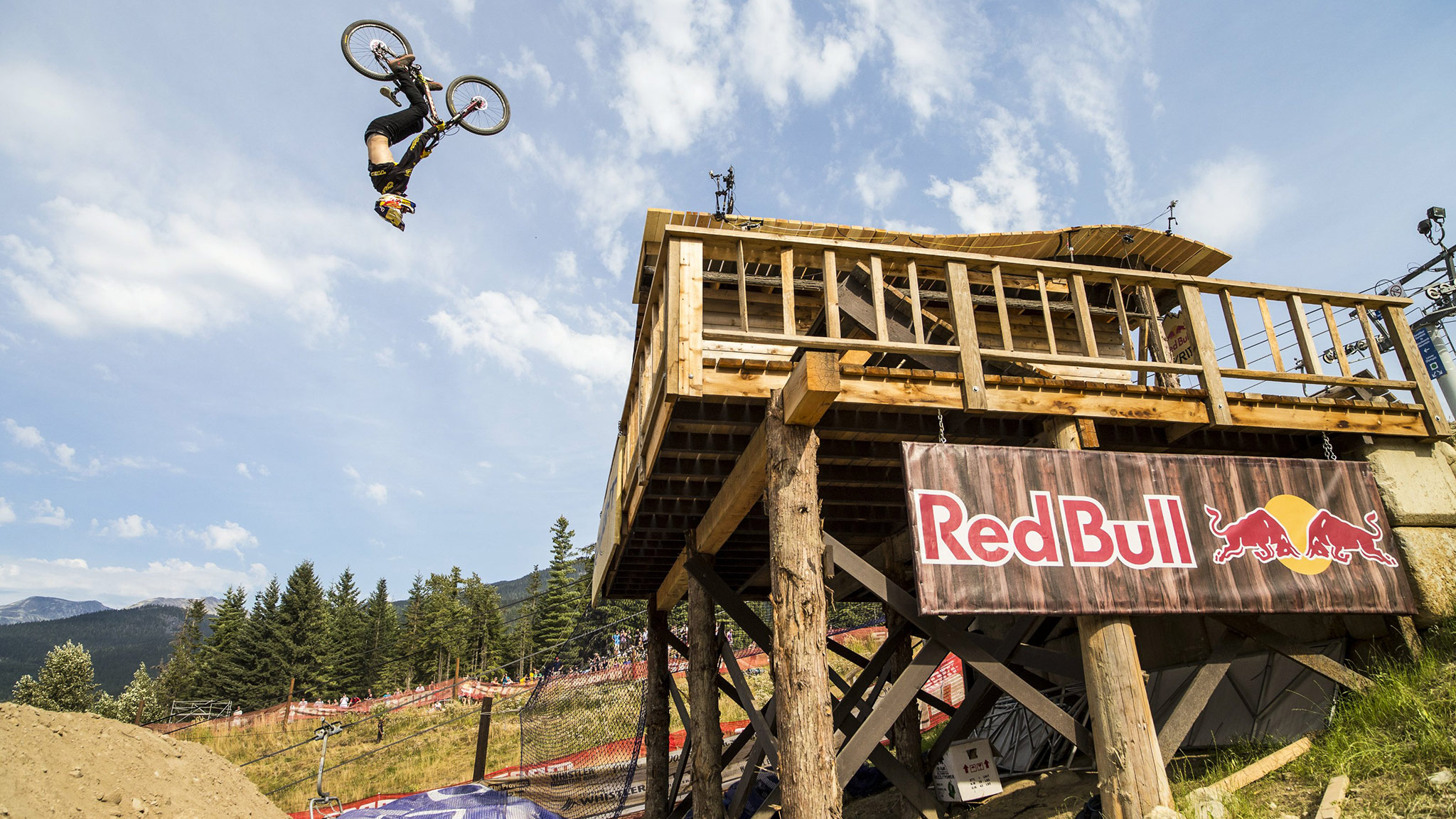 This massive backflip off the cabin feature at the 2012 Red Bull Joyride wasn't enough to get Semenuk on the podium. He still won the overall season title, edging out Martin Soderstrom.