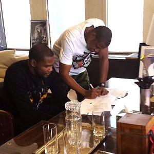 Kevin Durant and Jay-Z