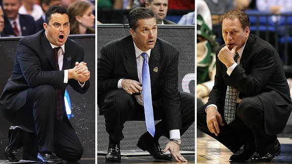 Sean Miller, John Calipari and Tom Izzo