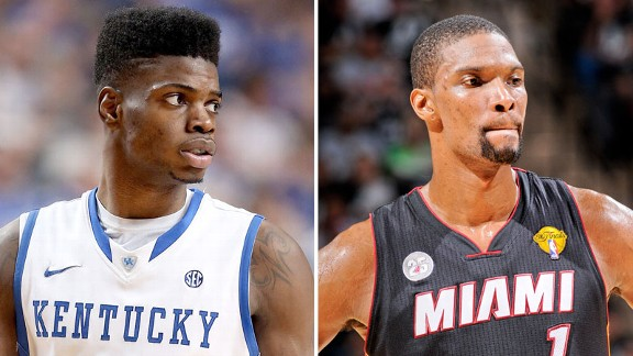 Nerlens Noel and Chris Bosh