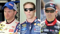 Dale Earnhardt Jr, Brad Keselowski and Jeff Gordon