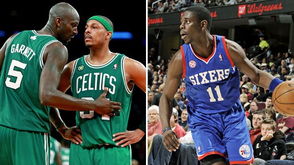 Kevin Garnett, Paul Pierce & Jrue Holiday
