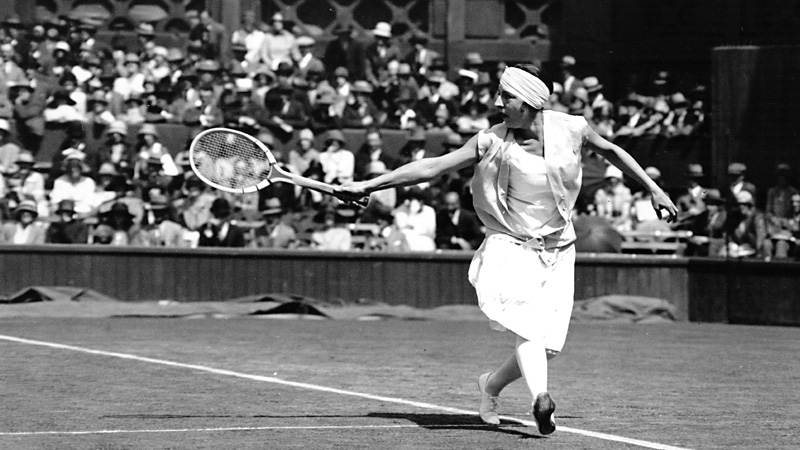 From 1919-1926, Suzanne Lenglen lost a total of one match, a controversial default at the 1921 U.S. Championships.