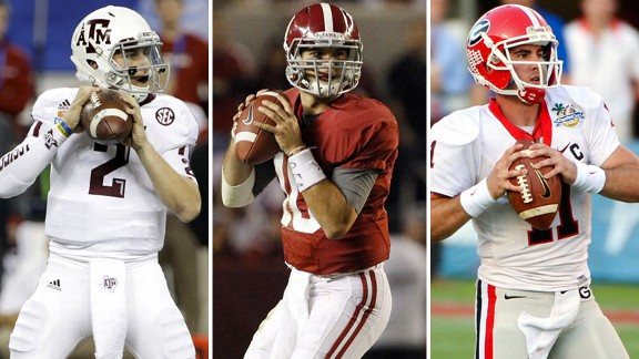 Johnny Manziel, AJ McCarron, Aaron Murray