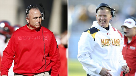 Kyle Flood and Randy Edsall