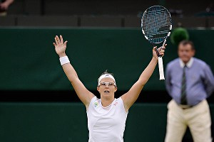 Kirsten Flipkens, whose ranking plummeted as low as 262nd a year ago, reached her first career Grand Slam semifinal by ousting former Wimbledon champion Petra Kvitova.