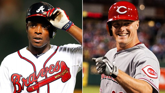 Justin Upton and Jay Bruce