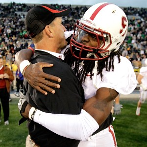 Jim Harbaugh and Richard Sherman