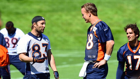 Peyton Manning and Wes Welker
