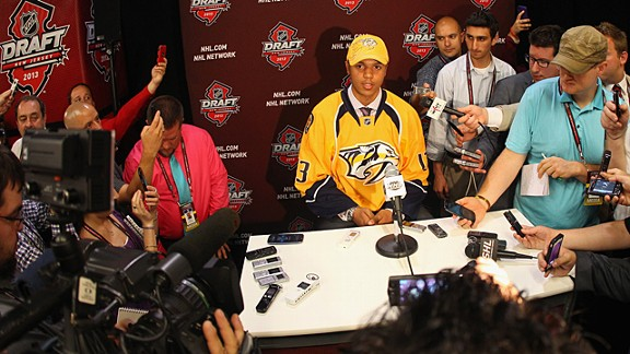 Seth Jones, #4 overall pick by the Nashville Predators