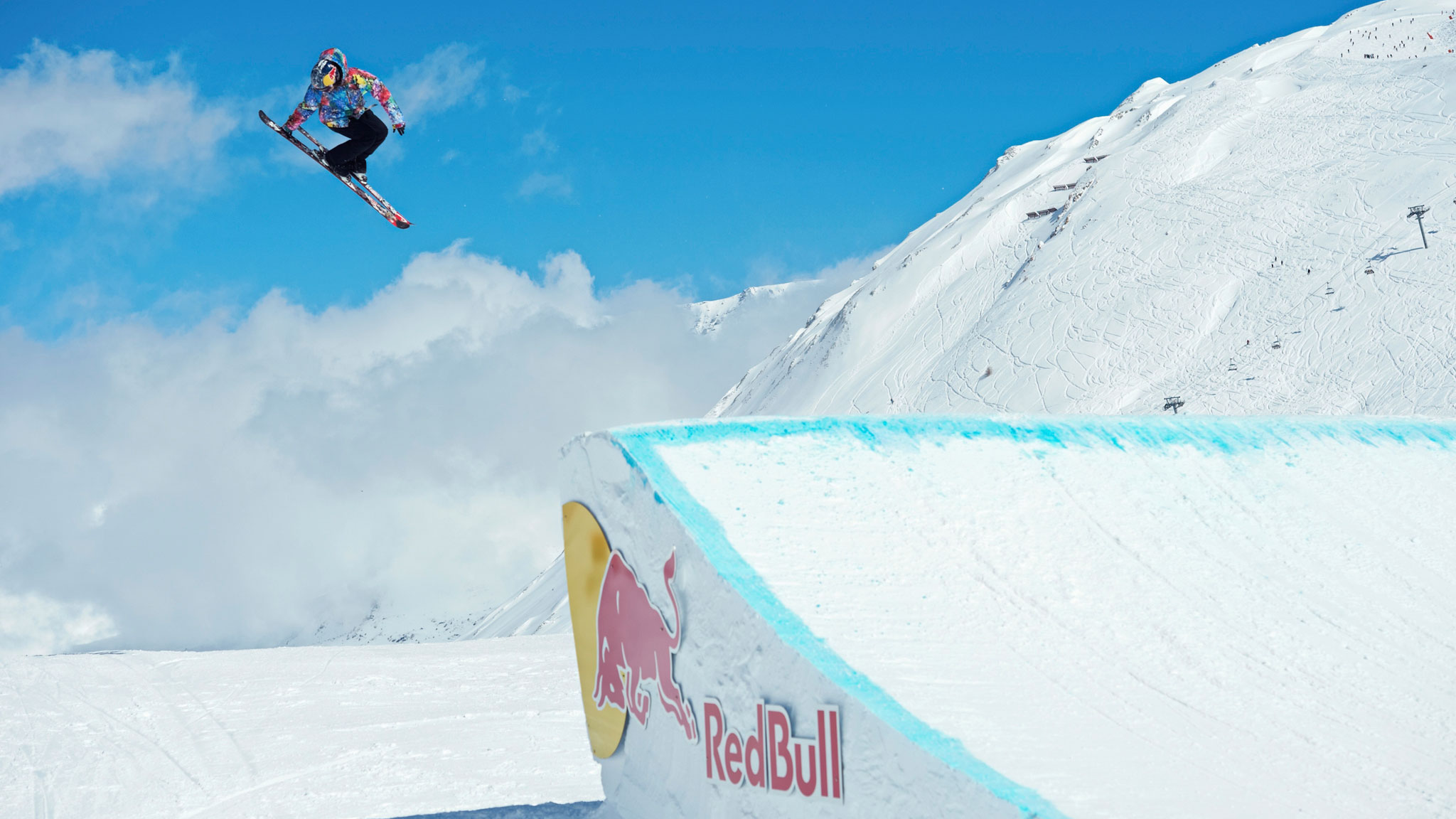 Kaya Turski on her way to her fourth gold medal in Women's Ski Slopestyle at X Games Tignes in March 2013.