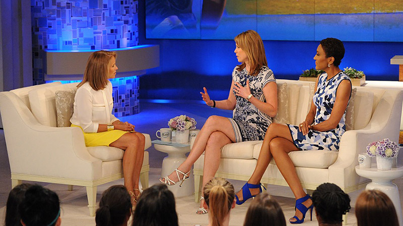Katie Couric and Hannah Storm