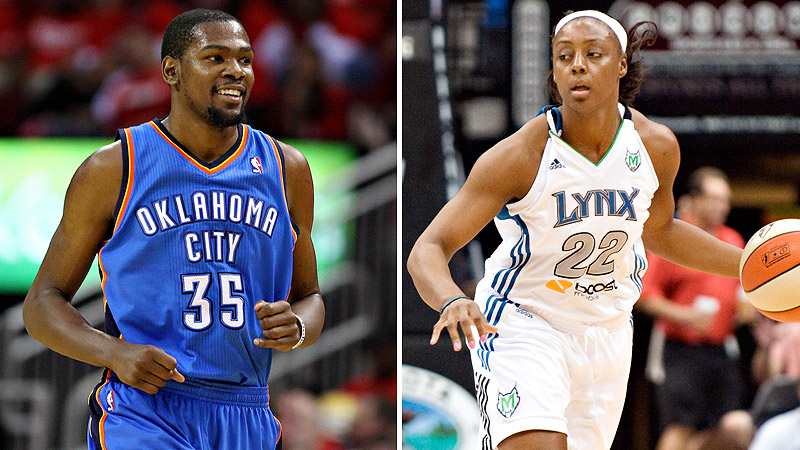 Lynx center Monica Wright confirmed she is engaged to Thunder star Kevin Durant.