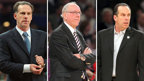 Jamie Dixon, Jim Boeheim and Mike Brey
